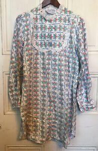 Lanz-Of-Salzburg-NOS-Vintage-Pink-Heart-Short-Cotton-M-Night-Gown-No-Tag-USAmade