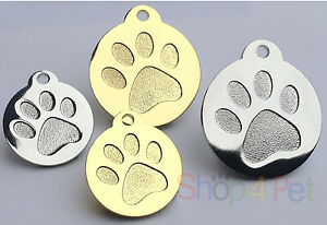 Dog-Cat-Tag-Quality-PET-ID-Tags-Highly-Polished-Chrome-or-Gold-ENGRAVING-OPTION