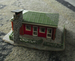 Vintage-HO-Scale-Faller-255-1165-Contemporary-Ranch-House-Building
