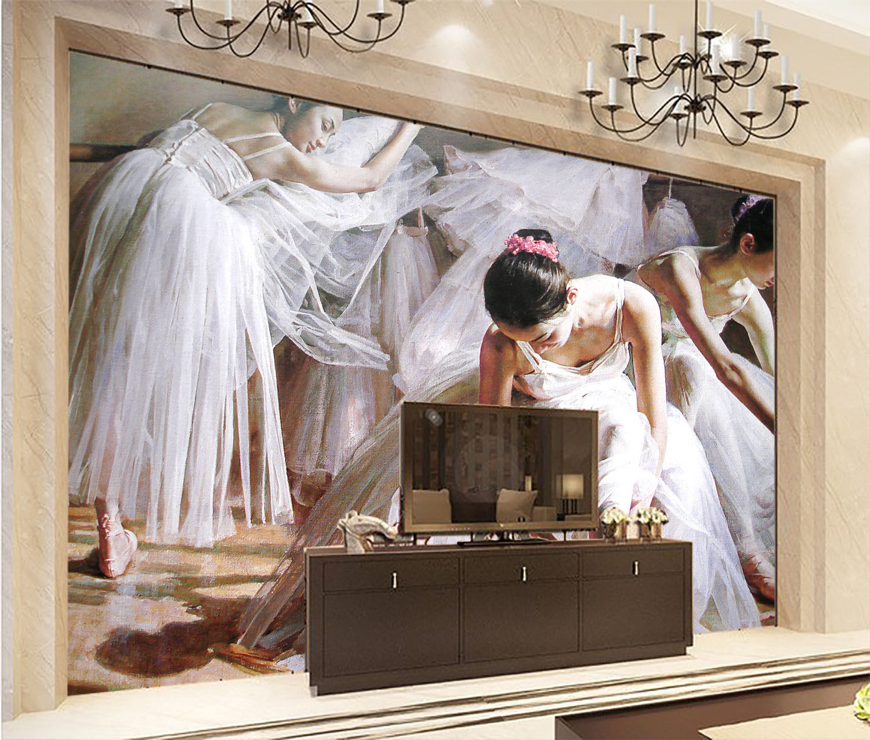 3D Dancing Girls 2392 Wall Paper Wall Print Decal Wall Deco Wall Indoor Murals