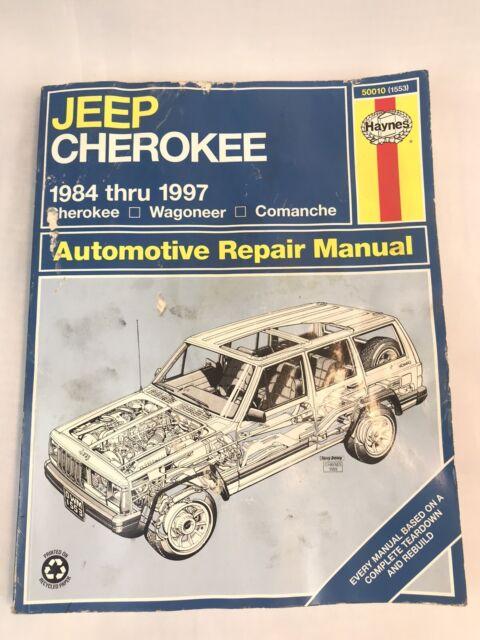 Haynes Repair Manual Jeep Cherokee 1984