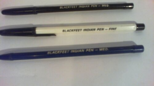3 Vintage Blackfeet Indian Pens 2 with caps, 2 Med and 1 fine