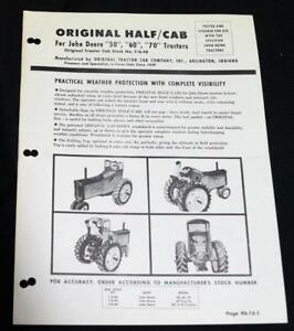 Details about ORIGINAL TRACTOR CAB COMPANY HALF CAB ADVERTISING SALES FLYER  VINTAGE FARMING