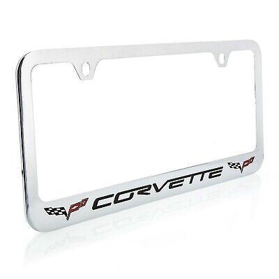 Chevrolet Corvette C6 Chrome Plated Metal License Plate Frame Holder OEM