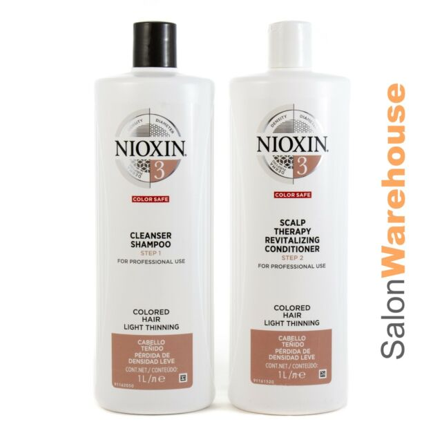 Nioxin System 3 Cleanser +Scalp Therapy Conditioner Litre Pac  Australian Stock