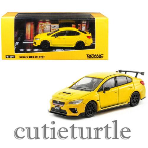 Tarmac Works Subaru Wrx STi S207 NBR Oackage 1:64 Sunrise Yellow T64-016-YL