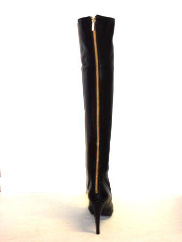 Alto 36 Coscia Tacco Donna Colore In Plateau A Pelle Con Nero Stivali YwAFCxqPw