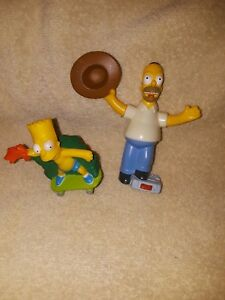 2007 The Simpsons Movie Homer Bart Talking Burger King Kids Meal Toy Ebay