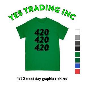 3c5e9822 420 WEED GRAPHIC T SHIRT MARIJUANA PRINT SHIRTS CANNABIS TEE FUNNY ...