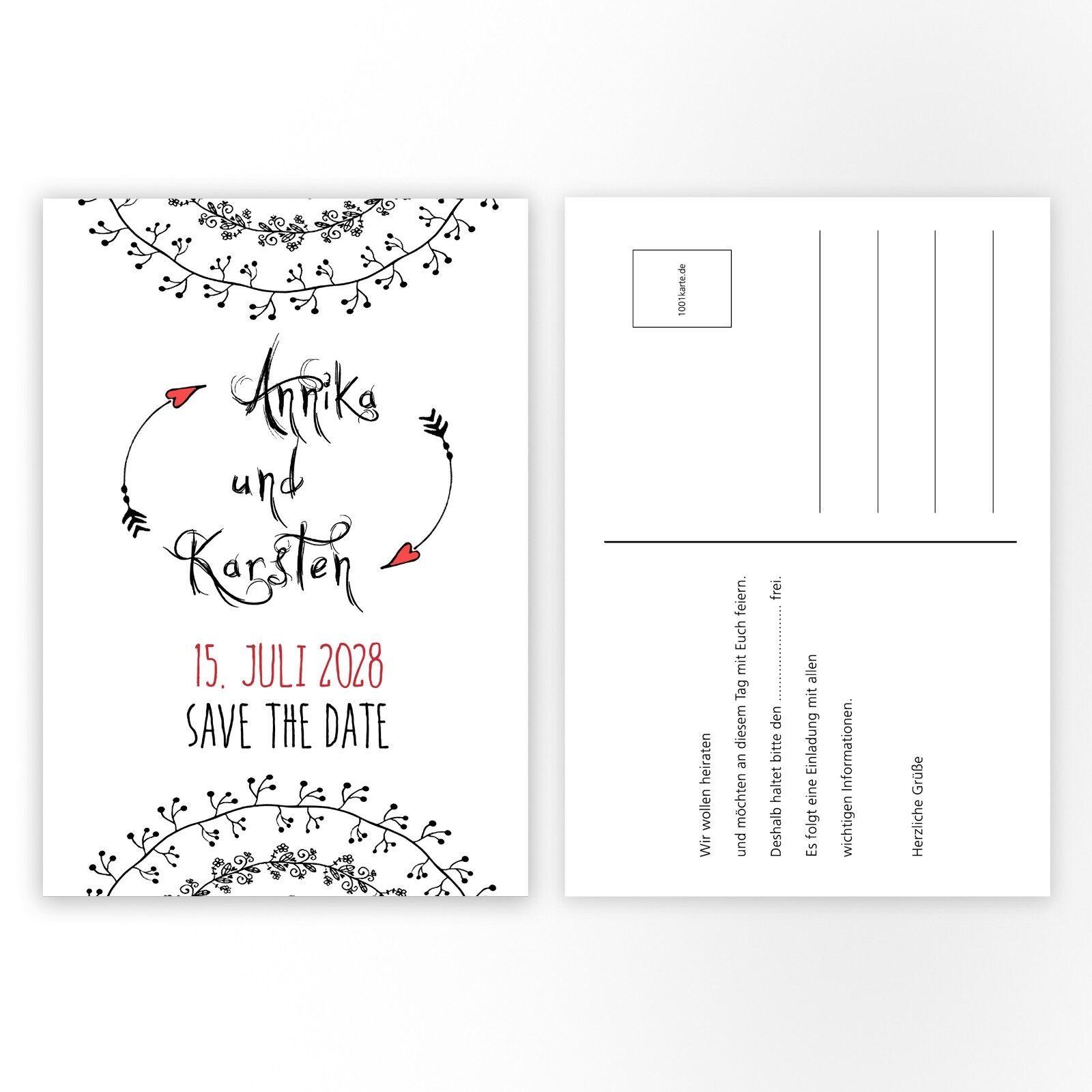 Einladungskarten Hochzeit, Hochzeitskarten individuell gestaltet – Herzpfeile Herzpfeile Herzpfeile   Spielen Sie auf der ganzen Welt und verhindern Sie, dass Ihre Kinder einsam sind  c671ad