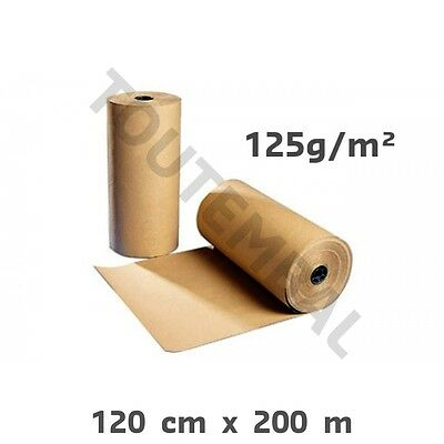 PAPIER KRAFT EN ROULEAU 50 CM X 400 Mètres de long 72 gr//m² papier calage