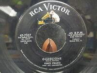 """45 RPM 7"""" Record Perez Prado & Orchestra Guaglione & Paris RCA Victor 47-7337"""