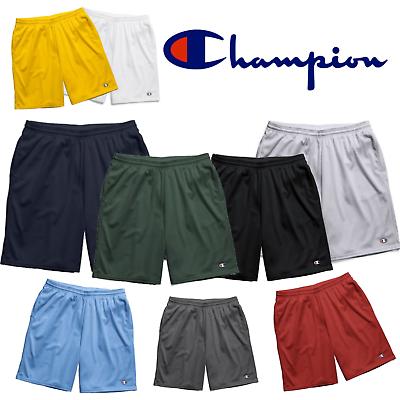 Champion Men/'s Long Mesh Shorts Blue Sz Small w// Pockets Elastic Waist Drawcord