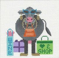 shop Until The Cows Come Home Cow H.painted Needlepoint Canvas Jp Needlepoint