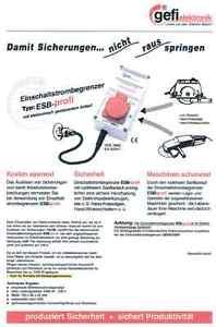 für Flex Anlaufstrombegrenzer Gefi ESB-profi Flex 230V Handkreissäge 2400W