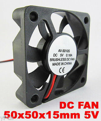 1 Pcs DC Fan 12V 5010 2 Pin 50x50x10mm Brushless DC Cooling Blade Fan