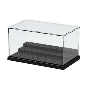 Lighted Acrylic Display Case Plastic Box Dustproof Toys Minifigures Protection
