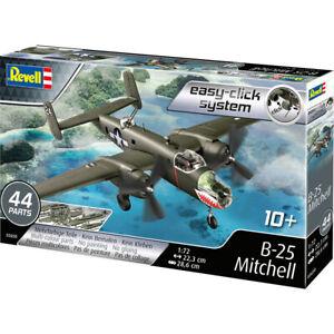 Revell-Easy-Click-B-25-Mitchell-U-S-Bomber-Plane-Model-Kit-Scale-1-72-03650