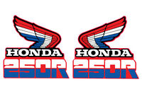 1985 Honda Xr 250 Gas Tank Decal Set Vintage Motocross Ahrma