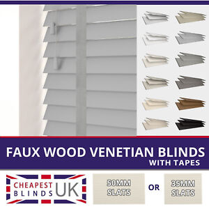 Faux Wood Venetian Blinds With Tapes Made To Measure