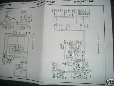 1966 MERCURY MONTCLAIR PARK LANE MONTEREY WIRING DIAGRAM | eBayeBay