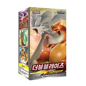 Pokemon-carte-double-Blaze-Booster-BOX-150-cartes-ininterrompue-des-obligations-SM10-Korean-Ver