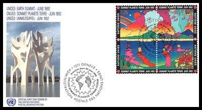 Nationen Vereinigte gipfel Planet Ton 1992 Fdc 1 Dinge FüR Die Menschen Bequem Machen