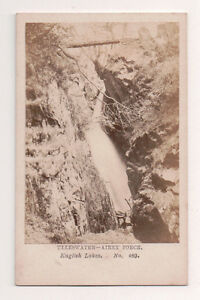 Vintage-CDV-Ullswater-Airey-Force-Cumbria-England-Manchester-Photo
