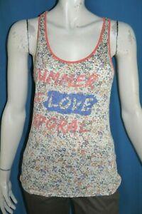 KAPORAL-Taille-S-36-Superbe-haut-top-tee-shirt-debardeur-femme-lin-melange