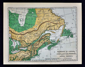 Map Of Canada New Brunswick.1871 Guyot Physical Map Canada Nova Scotia New Brunswick Quebec