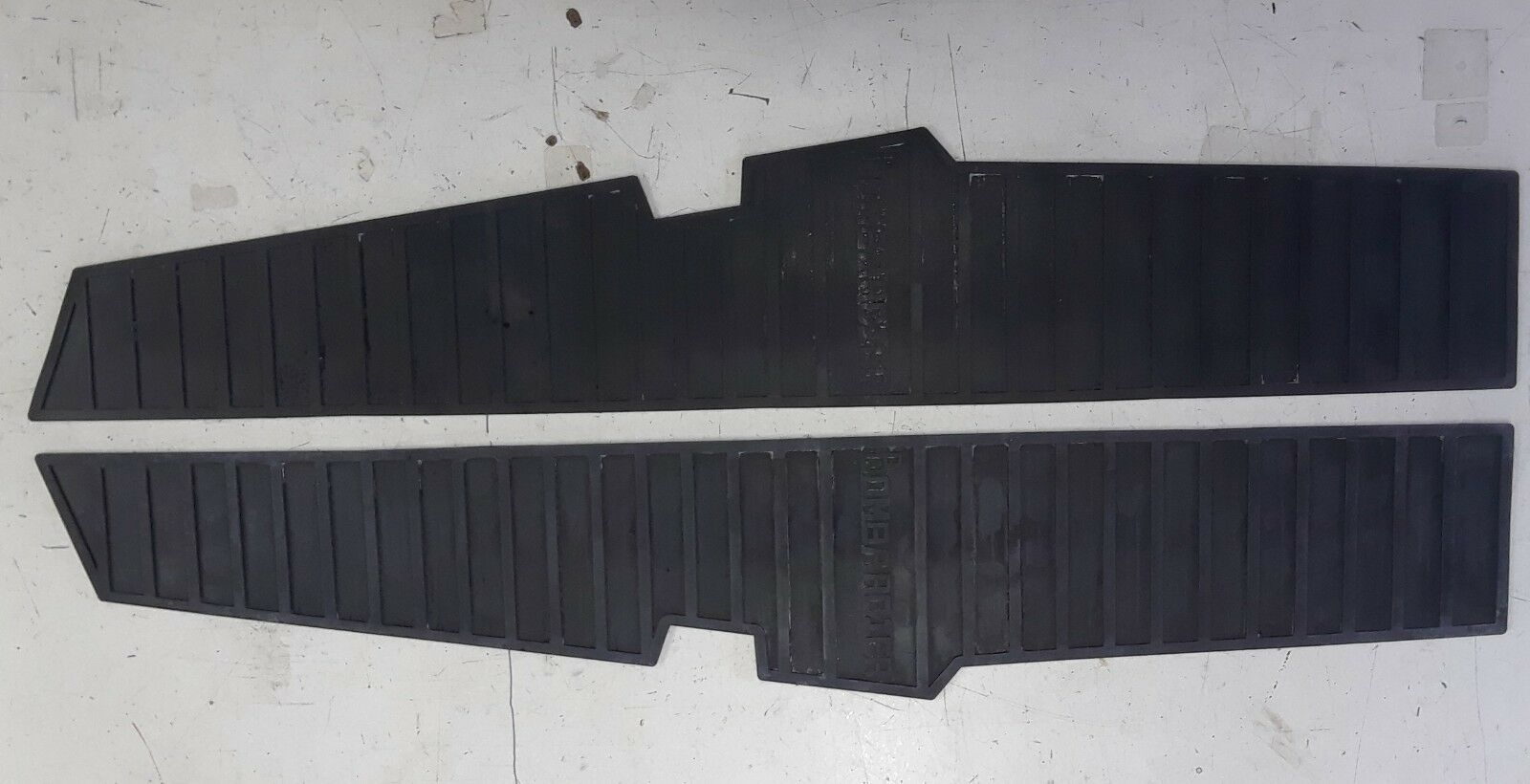 Vintage ski doo reproduction '67-'68 running board mats for Olympic