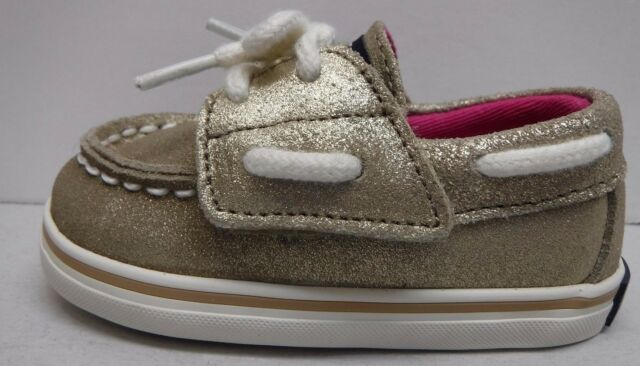 Sperry Toddler Size 2 Platinum Boat Shoes New Baby Girls Shoes