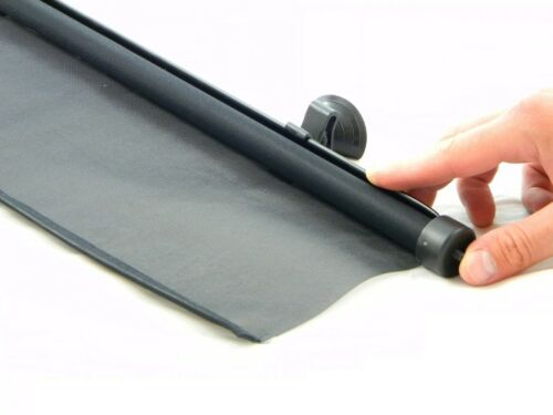 GENUINE CAR WINDOW SUNSHADE CURTAINS ROLLER BLINDS 52cm LARGE SIZE BLACK SET