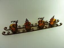 4 x Teelichtgläser auf einem Schlitten Metall Weihnachtsdekoration Adventskranz