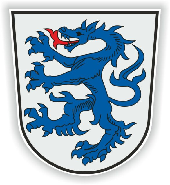 1x STICKER Ingolstadt GERMANY COAT OF ARMS