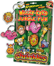 WIGGLY EYE JUNGLE FUN EMBELLISHMENTS SHRINKLES SHRINK ART BUMPER SET & PENCILS