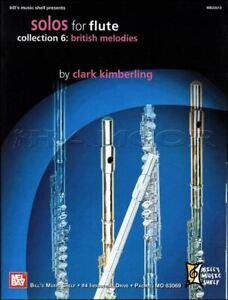 Solos For Flute Collection Britannique De 6 Mélodies Partitions Livre MÊme Jour ExpÉdition-afficher Le Titre D'origine Prix De Rue