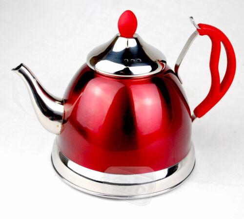 Red retro tè pentola T Piano Cottura Elettrico a Gas Per Tenere Caldo Campeggio al servizio Teiera Caravan