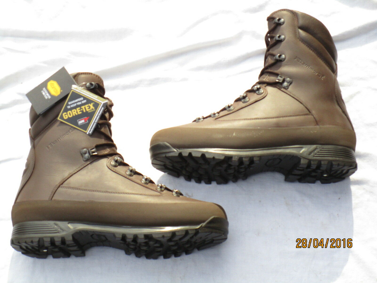 Karrimor, botas Combat Cold Wet Weather, marrón Macho, Mtp , Goretex,Talla 8m(42)