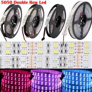 Double Row 5M 5050 600Led RGB Warm White LED Strip Light Waterproof Flexible 12V