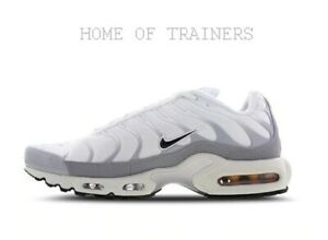 sports shoes 15d6b 9e617 Details about Nike Tuned 1 White Black Wolf Grey Men's Trainers All Sizes