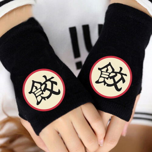 Anime DragonBall Z Son Goku Roshi Fingerless Gloves Knitted Mittens Cosplay Gift