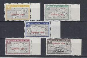 Europe-Cept-1964-Guernsey-Sark-5-Values-Cinderella-MNH