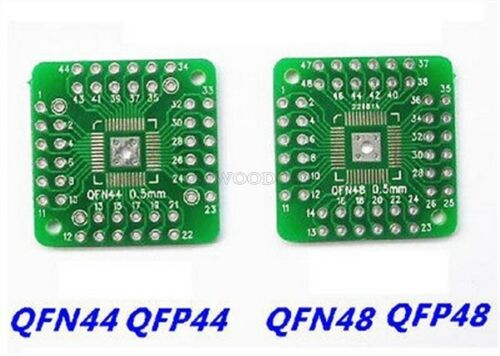 2Pcs QFN44 QFP48 QFP44 Pqfp Lqfp Turn To Dip Smd Adapter To Board pu