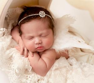 Luxury Baby Headband Crystal Bling Flower Rhinestone Photography Prop