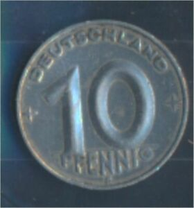 DDR-Jagerno-1503-1950-e-very-fine-10-Pfennig-later-on-gear-7849410