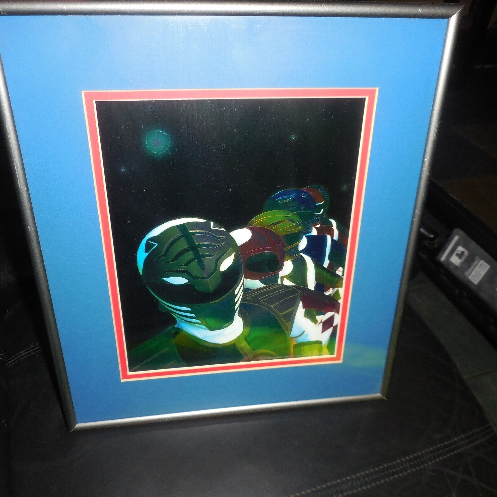 RARE 1995 SABAN CHROME PROOF Mighty Morphin  energia Rangers FRAMED & MATTED  migliore qualità