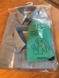 Age 16 BNWT Grey Pack of 2 John Lewis Boys Short Sleeve School Shirt