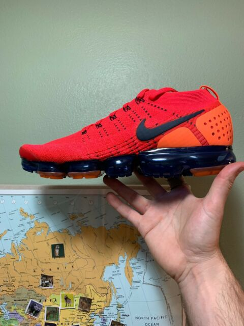 9a0630c84362 Nike Air Vapormax Flyknit 2 Red Orbit Obsidian Ar5406 600 Mens Size ...