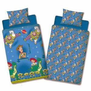 Toy-story-Amis-Set-Housse-de-Couette-Simple-Reversible-Enfants-Literie